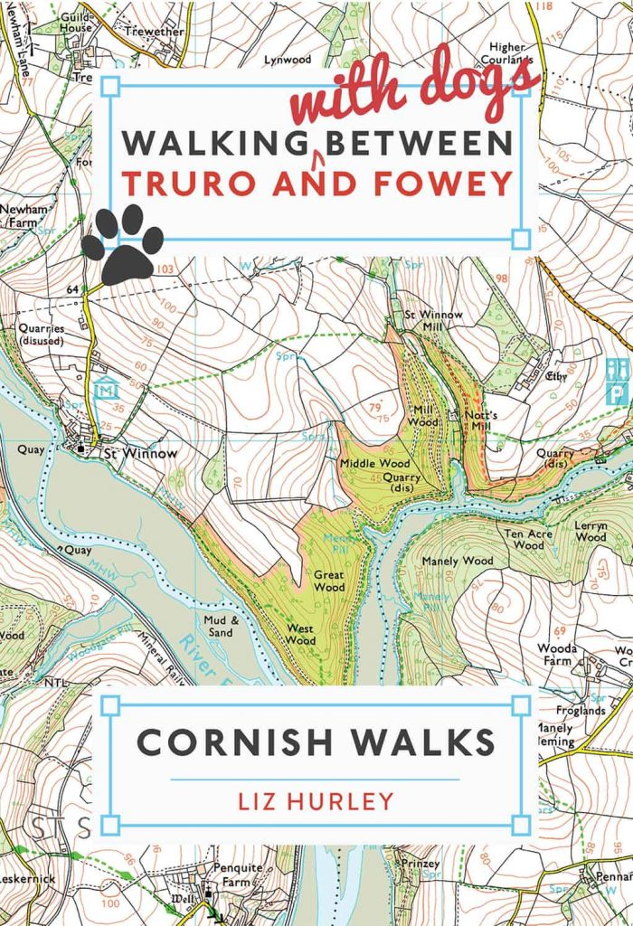 Front cover of the book Walking with Dog between Truro and Fowey that I worked on