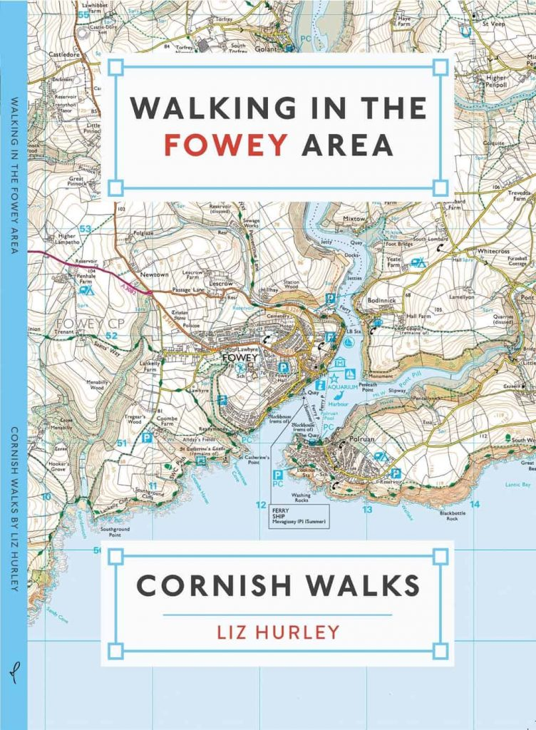 Front cover of the book Walking in the Fowey Area that I worked on