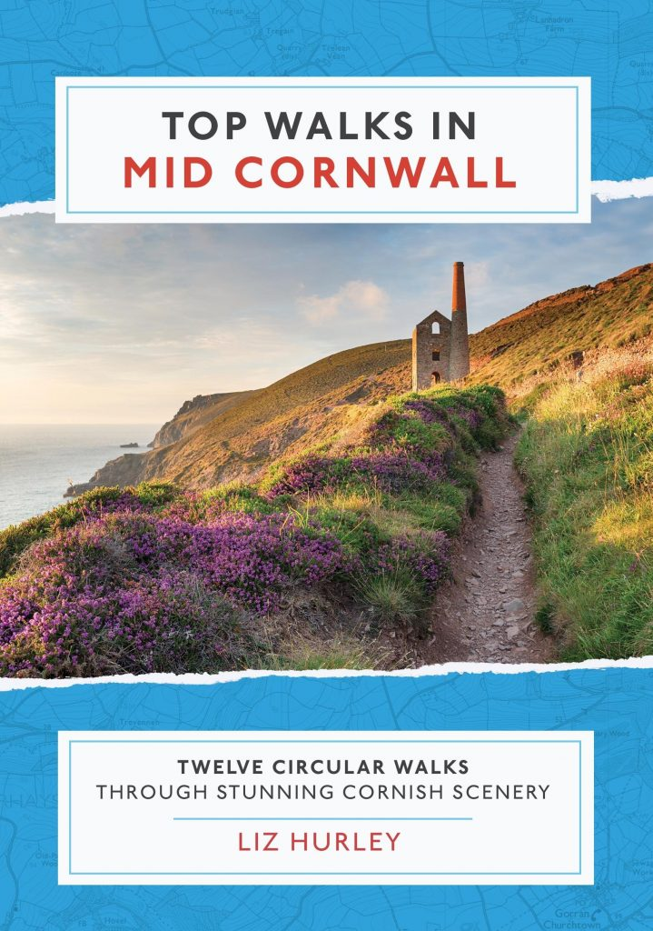 Front cover of the book Top Walks in Mid Cornwall that I worked on